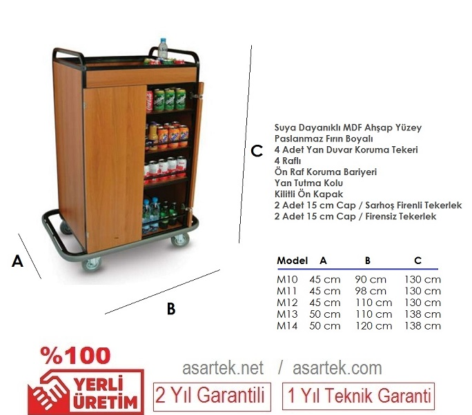 Otel Mini Bar Arabası M14